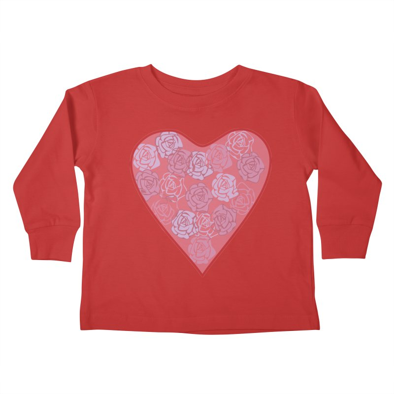 Heart filled with flowers Kids Toddler Longsleeve T-Shirt by snapdragon64's Shop