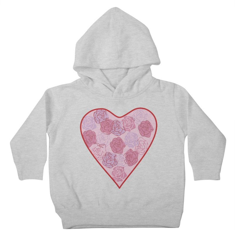Heart filled with flowers Kids Toddler Pullover Hoody by snapdragon64's Shop