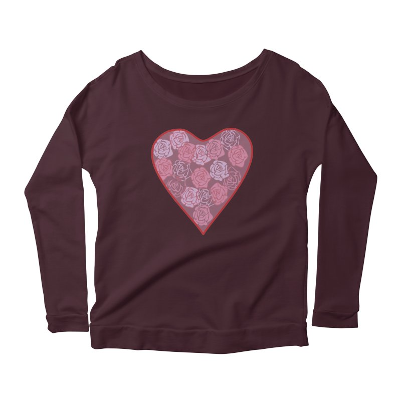 Heart filled with flowers Women's Longsleeve T-Shirt by snapdragon64's Shop