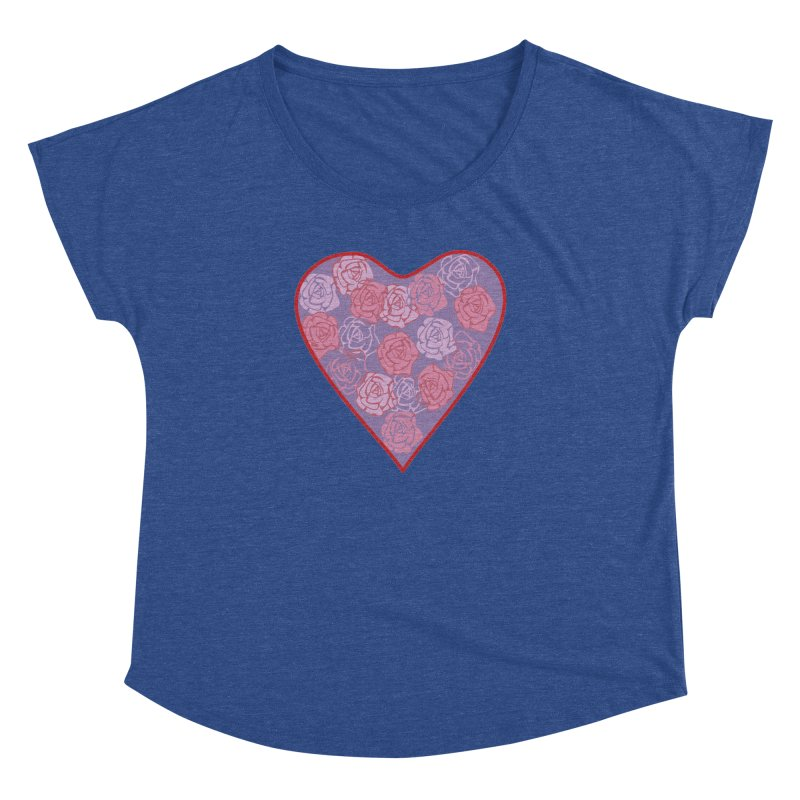 Heart filled with flowers Women's Dolman Scoop Neck by snapdragon64's Shop