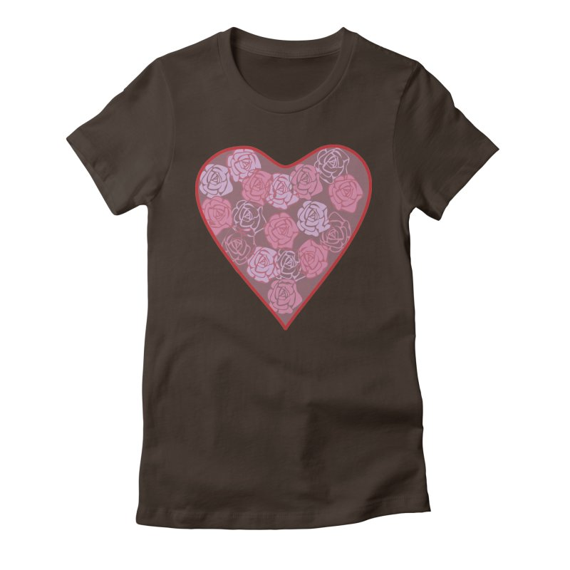 Heart filled with flowers Women's Fitted T-Shirt by snapdragon64's Shop