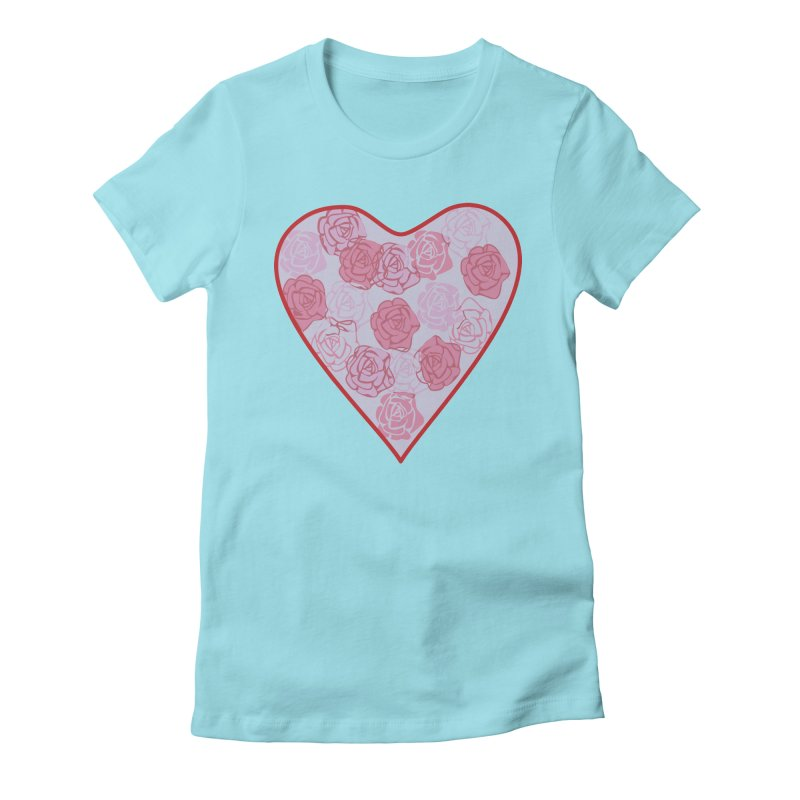 Heart filled with flowers Women's T-Shirt by snapdragon64's Shop