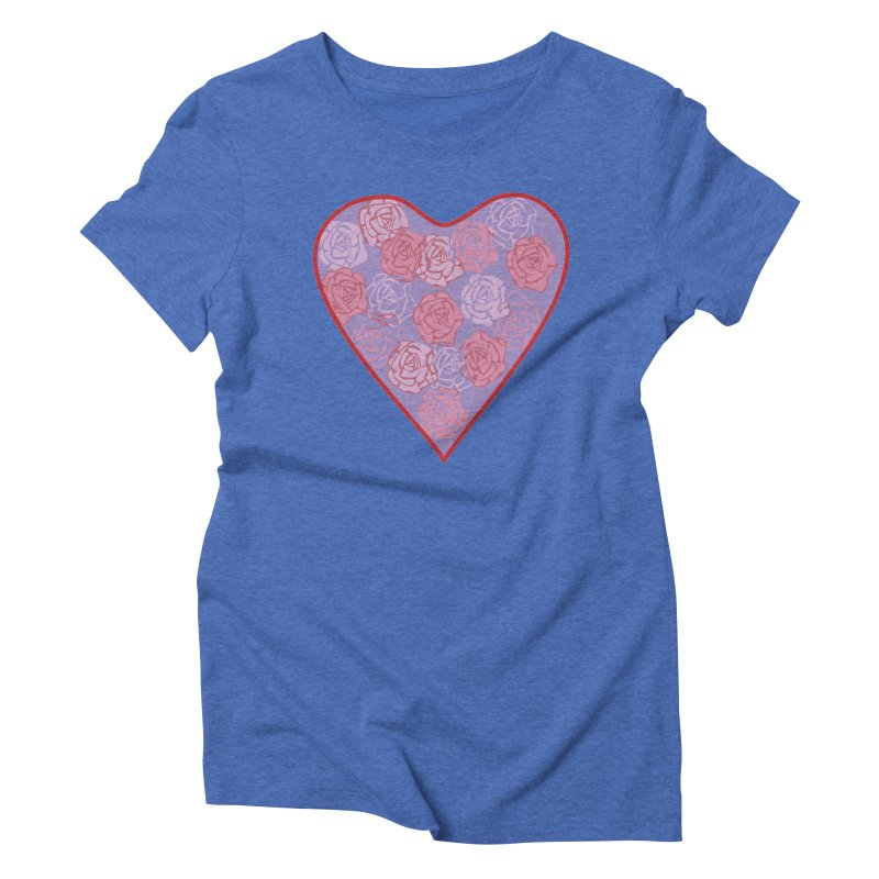 Heart filled with flowers Women's Triblend T-Shirt by snapdragon64's Shop