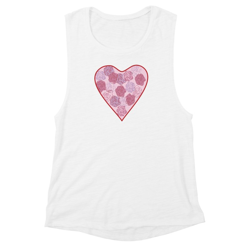 Heart filled with flowers Women's Muscle Tank by snapdragon64's Shop