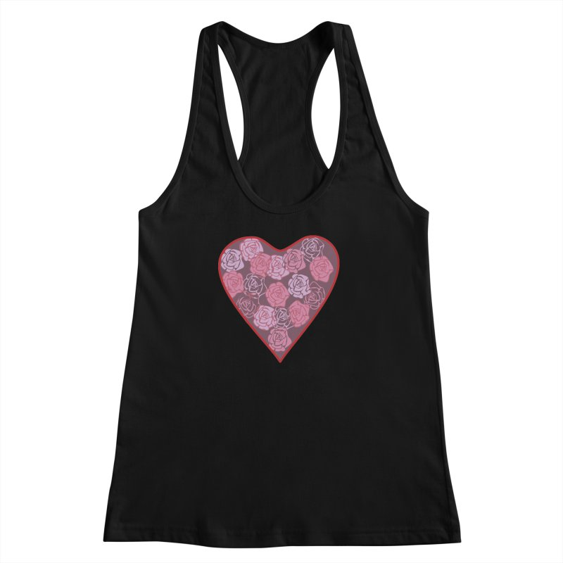 Heart filled with flowers Women's Racerback Tank by snapdragon64's Shop