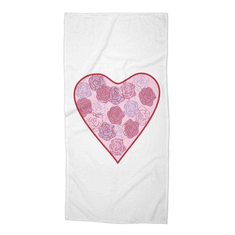 Heart filled with flowers Accessories Beach Towel by snapdragon64's Shop