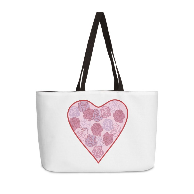 Heart filled with flowers Accessories Weekender Bag Bag by snapdragon64's Shop
