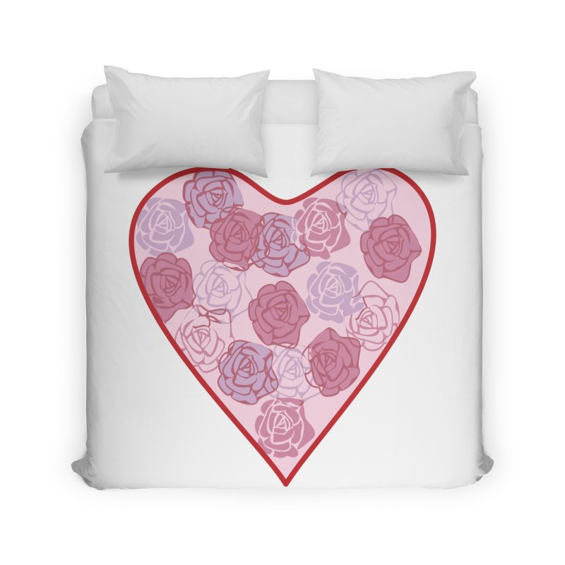 Heart filled with flowers Home Duvet by snapdragon64's Shop