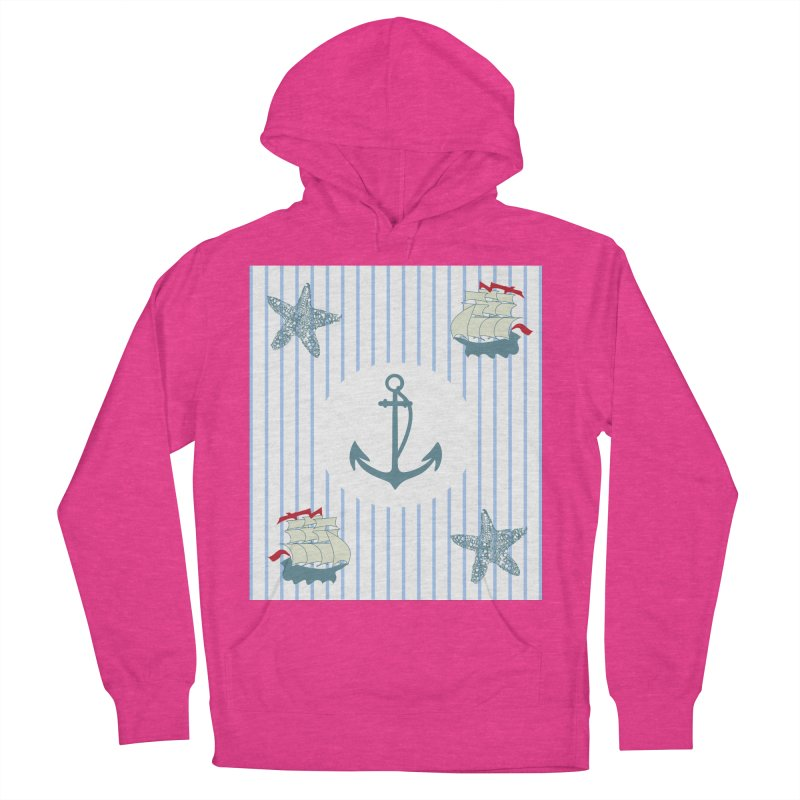Nautical Men's French Terry Pullover Hoody by snapdragon64's Shop