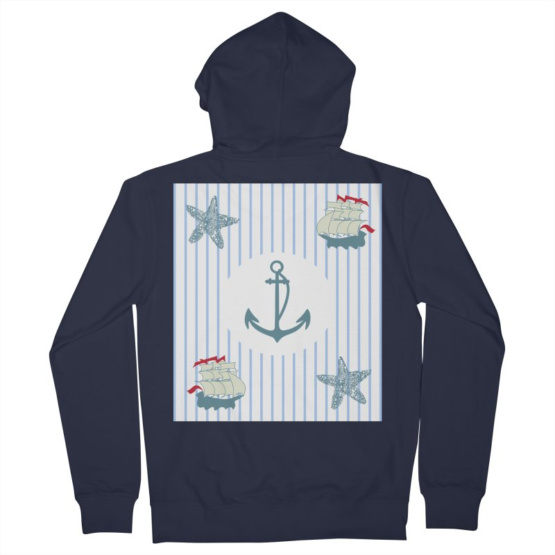 Nautical Women's French Terry Zip-Up Hoody by snapdragon64's Shop