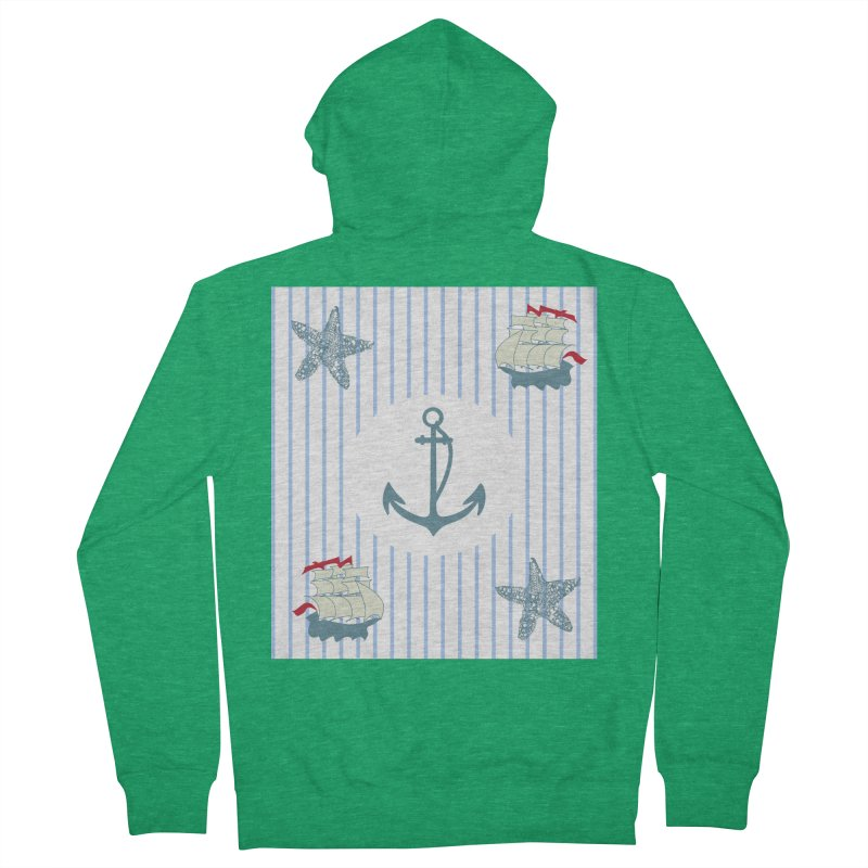 Nautical Men's French Terry Zip-Up Hoody by snapdragon64's Shop