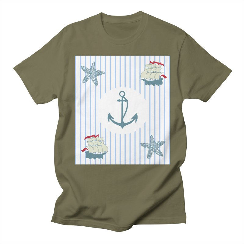 Nautical Men's T-shirt by snapdragon64's Shop