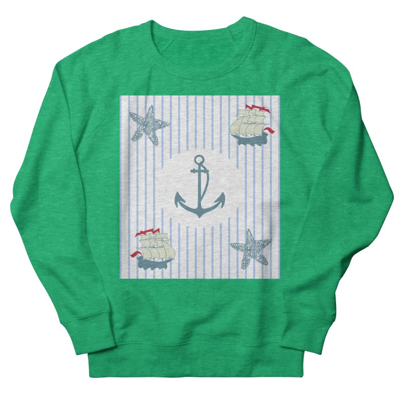 Nautical Men's French Terry Sweatshirt by snapdragon64's Shop