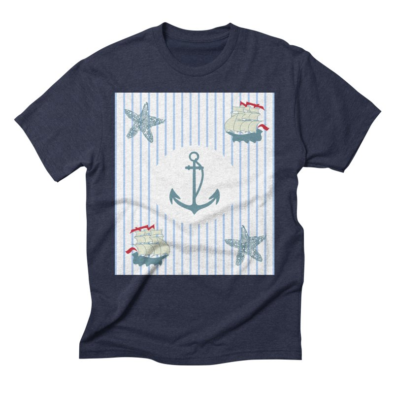 Nautical Men's Triblend T-Shirt by snapdragon64's Shop