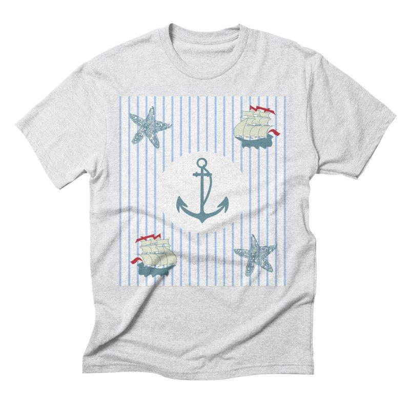 Nautical Men's Triblend T-Shirt by snapdragon64's Shop