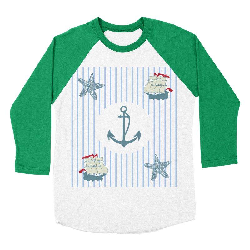 Nautical Women's Baseball Triblend T-Shirt by snapdragon64's Shop