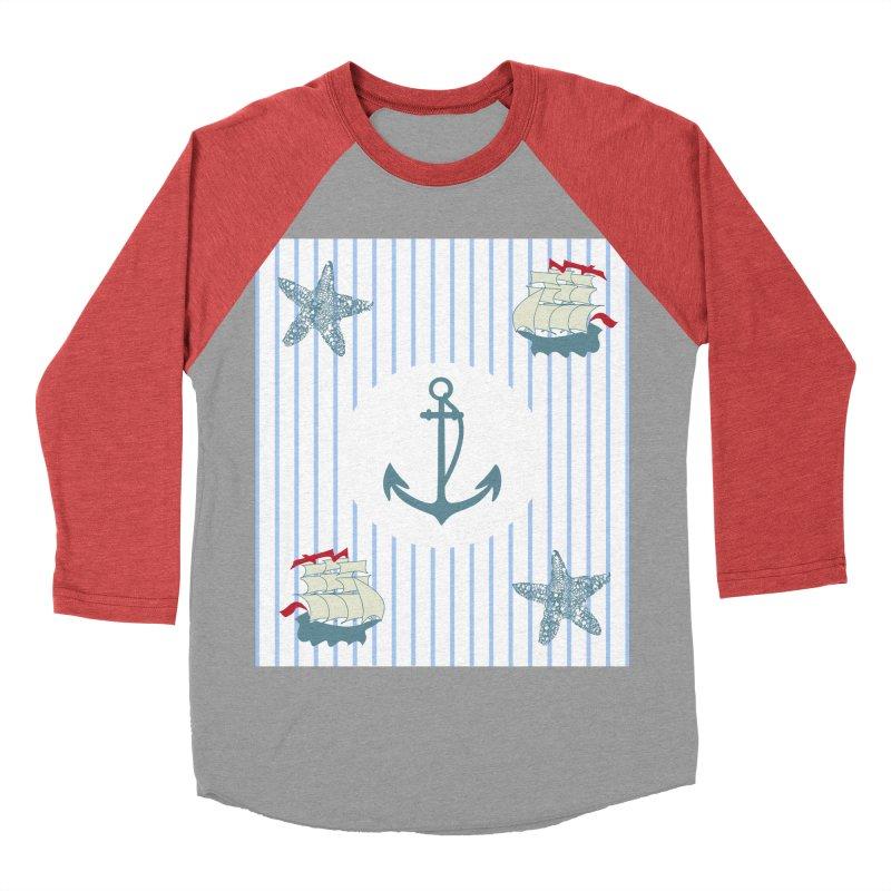 Nautical Women's Baseball Triblend Longsleeve T-Shirt by snapdragon64's Shop