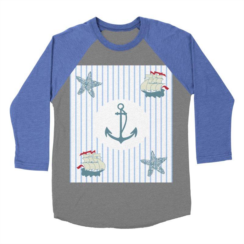 Nautical Men's Baseball Triblend T-Shirt by snapdragon64's Shop
