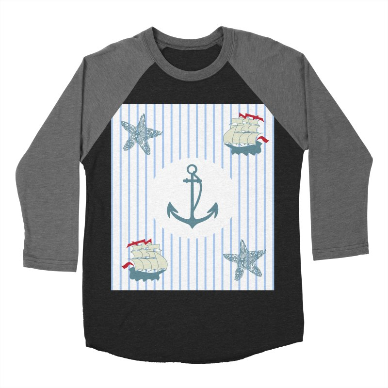 Nautical Men's Baseball Triblend T-Shirt by snapdragon64's Shop