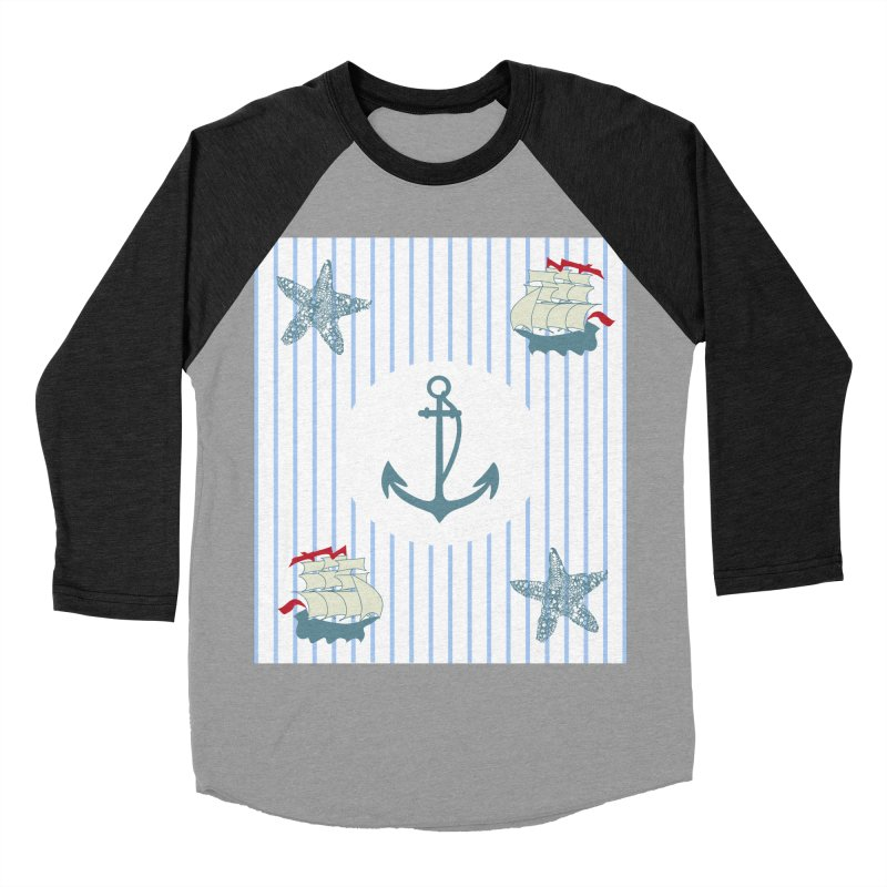 Nautical Men's Baseball Triblend Longsleeve T-Shirt by snapdragon64's Shop