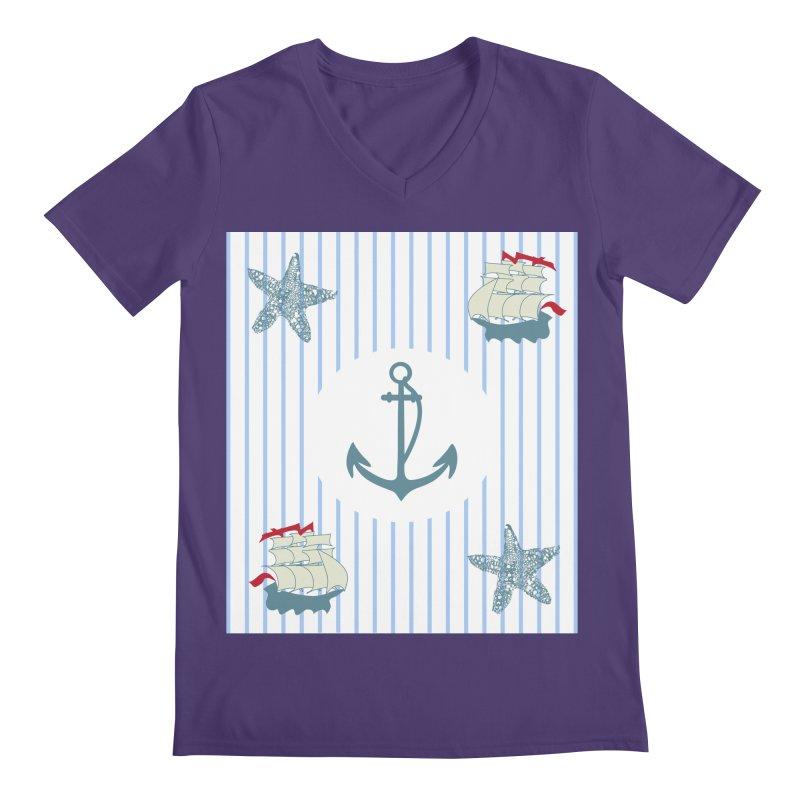 Nautical Men's V-Neck by snapdragon64's Shop