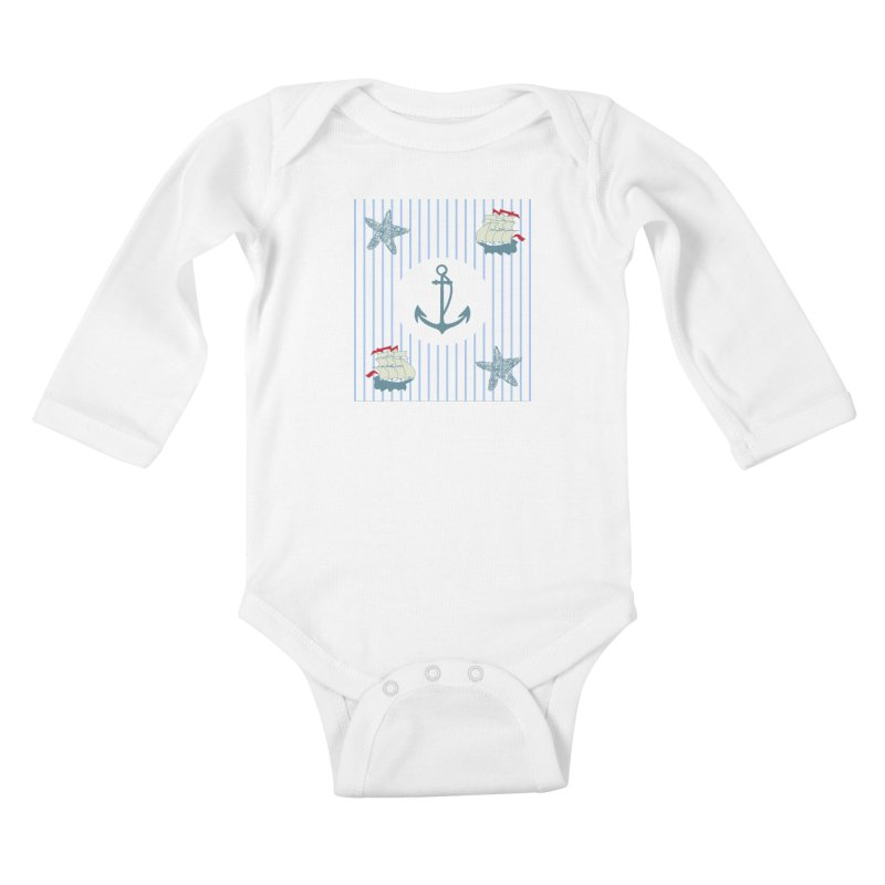 Nautical Kids Baby Longsleeve Bodysuit by snapdragon64's Shop