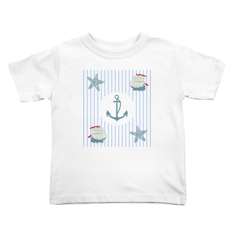 Nautical Kids Toddler T-Shirt by snapdragon64's Shop