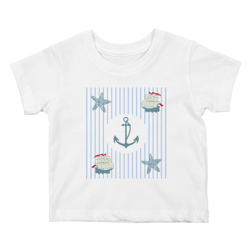 Nautical Kids Baby T-Shirt by snapdragon64's Shop