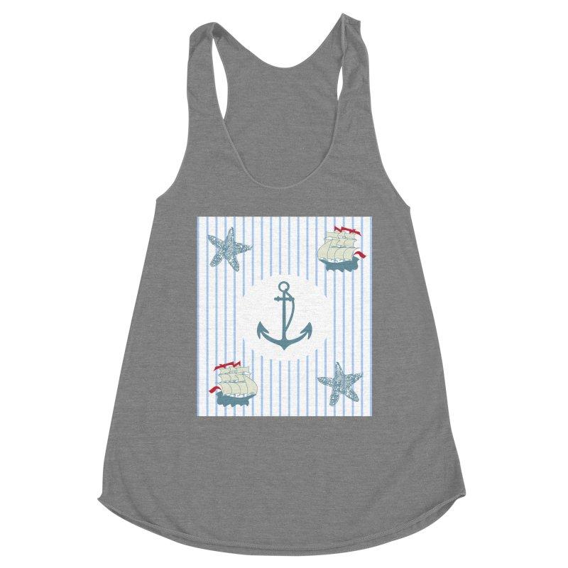 Nautical Women's Racerback Triblend Tank by snapdragon64's Shop