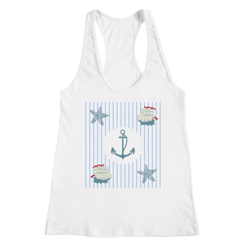Nautical Women's Racerback Tank by snapdragon64's Shop