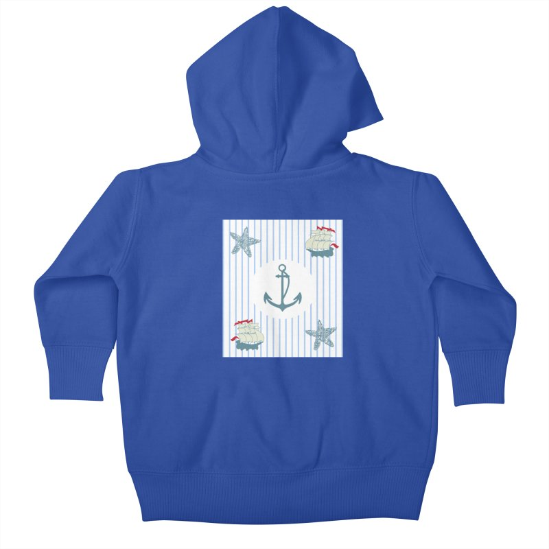 Nautical Kids Baby Zip-Up Hoody by snapdragon64's Shop