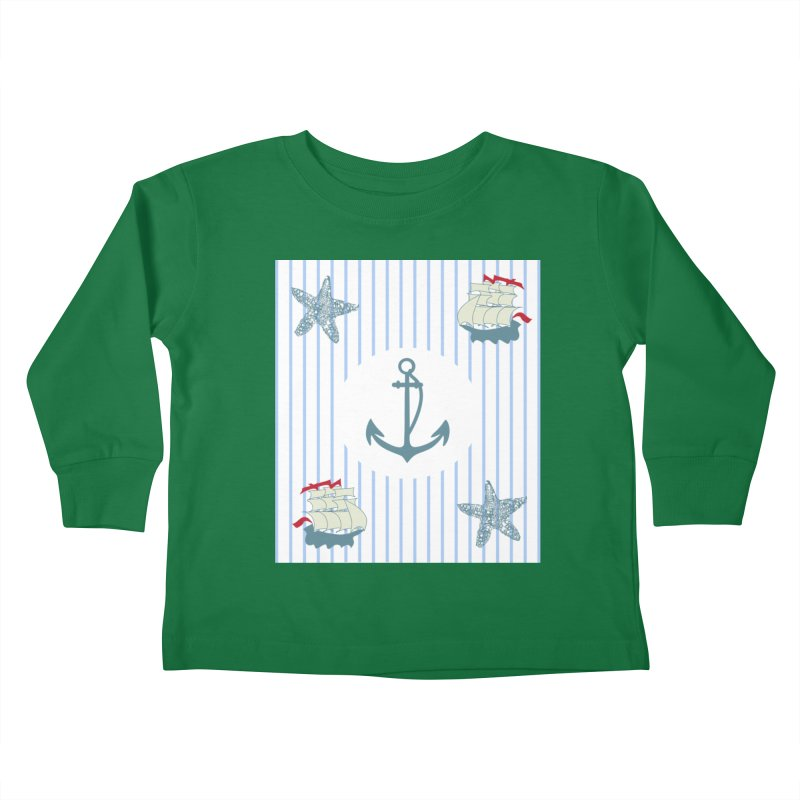 Nautical Kids Toddler Longsleeve T-Shirt by snapdragon64's Shop