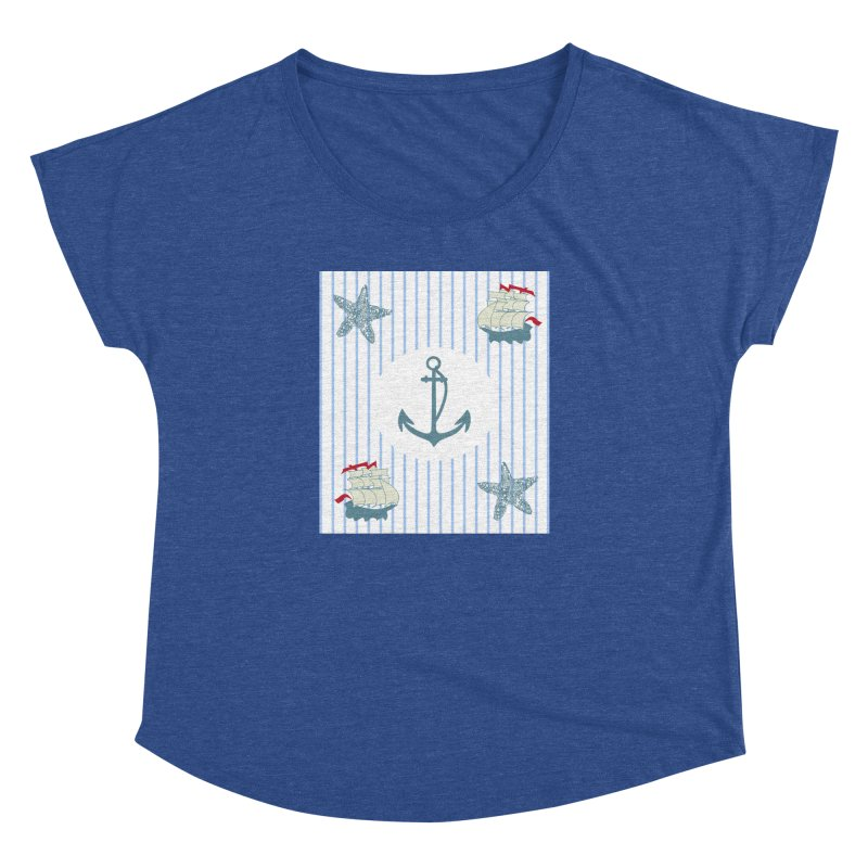 Nautical Women's Dolman Scoop Neck by snapdragon64's Shop