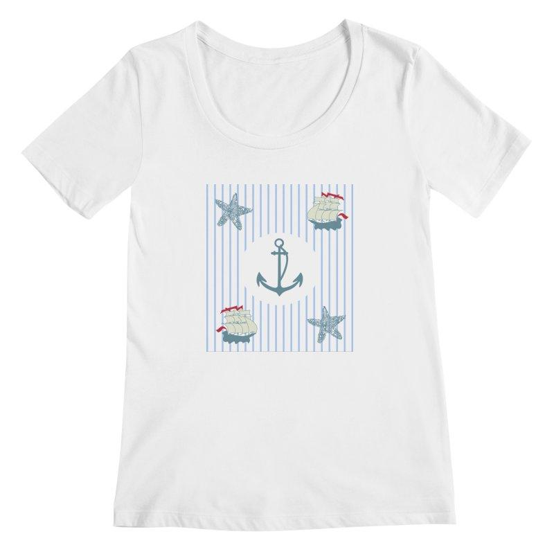 Nautical Women's Scoopneck by snapdragon64's Shop