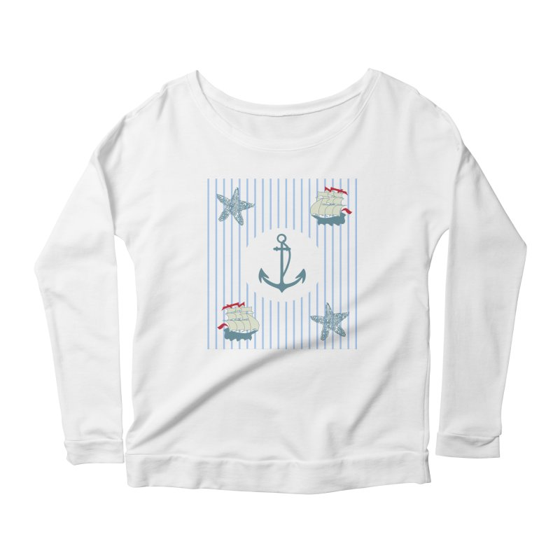 Nautical Women's Longsleeve Scoopneck  by snapdragon64's Shop