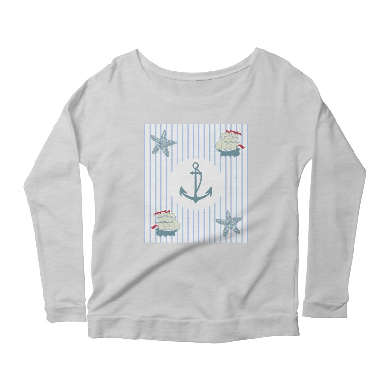Nautical Women's Scoop Neck Longsleeve T-Shirt by snapdragon64's Shop