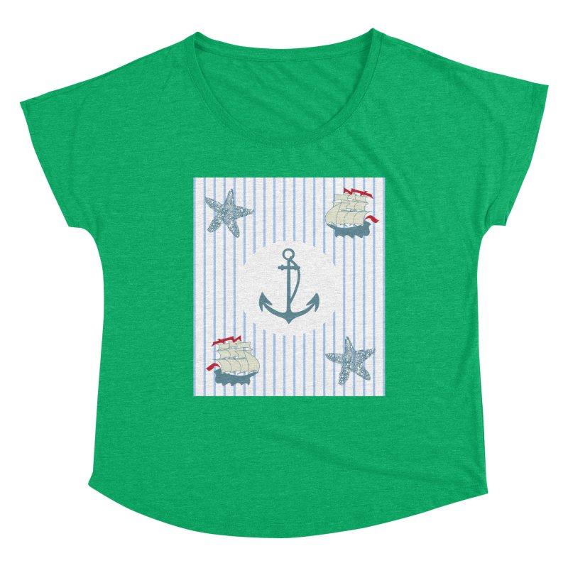 Nautical Women's Dolman Scoop Neck by snapdragon64's Shop