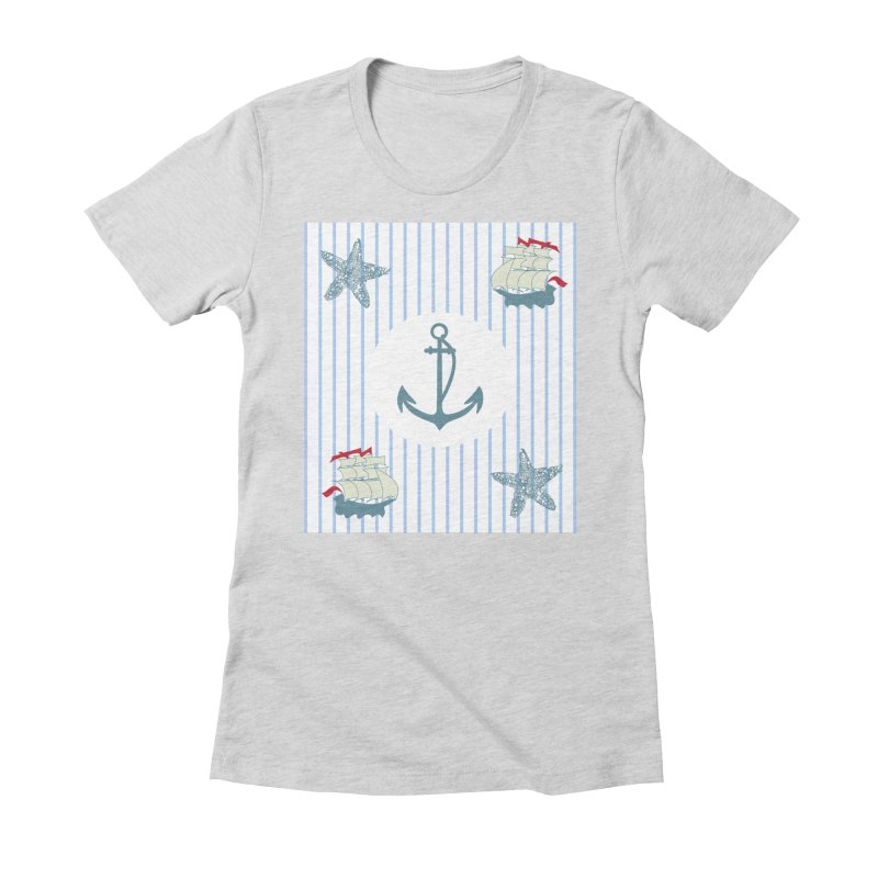 Nautical Women's Fitted T-Shirt by snapdragon64's Shop