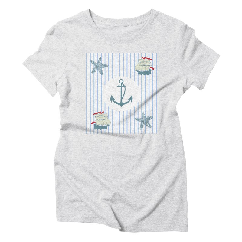 Nautical Women's Triblend T-shirt by snapdragon64's Shop