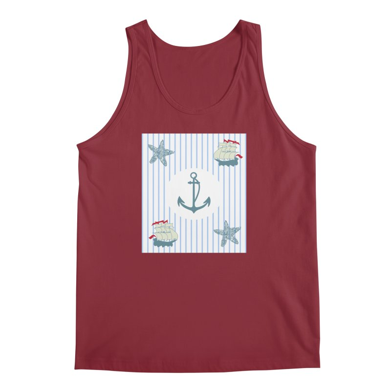 Nautical Men's Regular Tank by snapdragon64's Shop