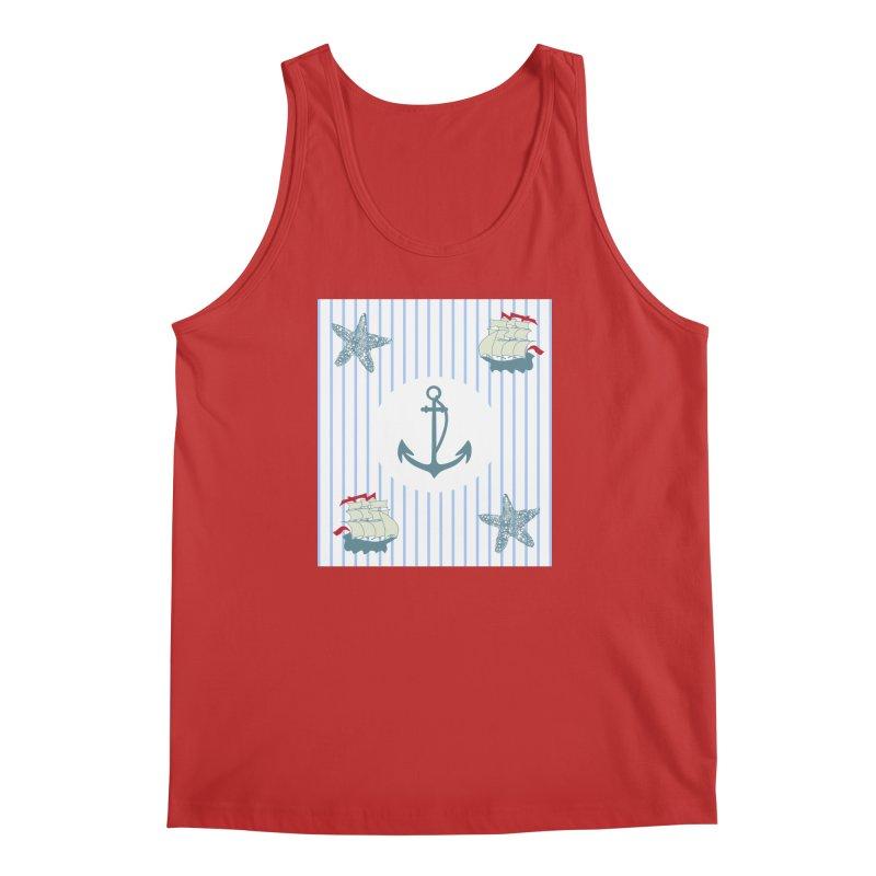 Nautical Men's Regular Tank by snapdragon64's Shop