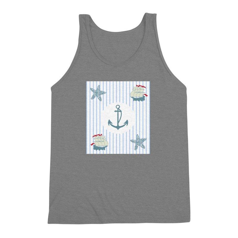 Nautical Men's Triblend Tank by snapdragon64's Shop
