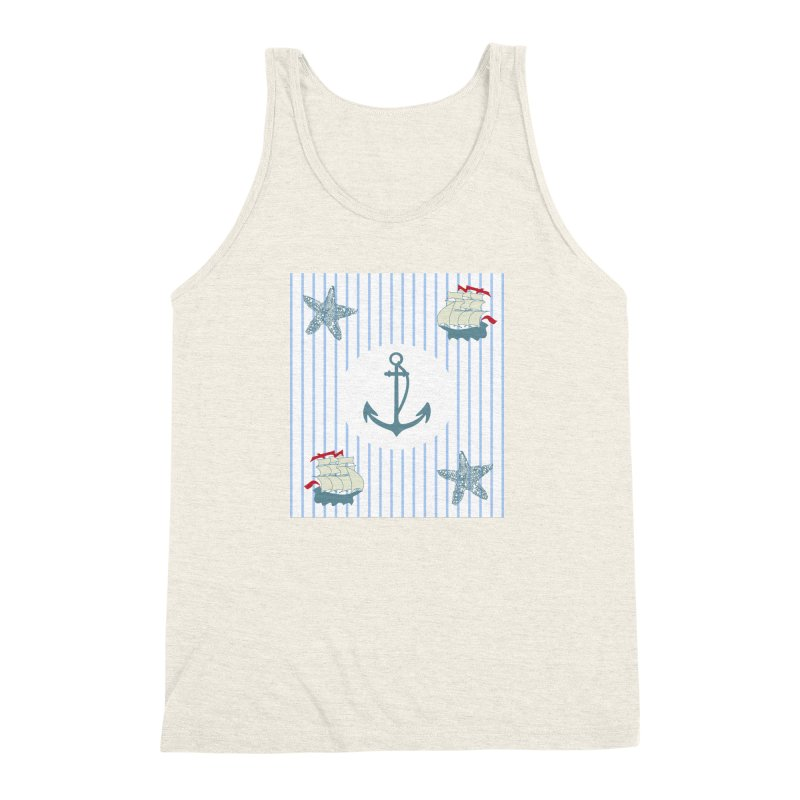 Nautical Men's Triblend Tank by snapdragon64's Shop