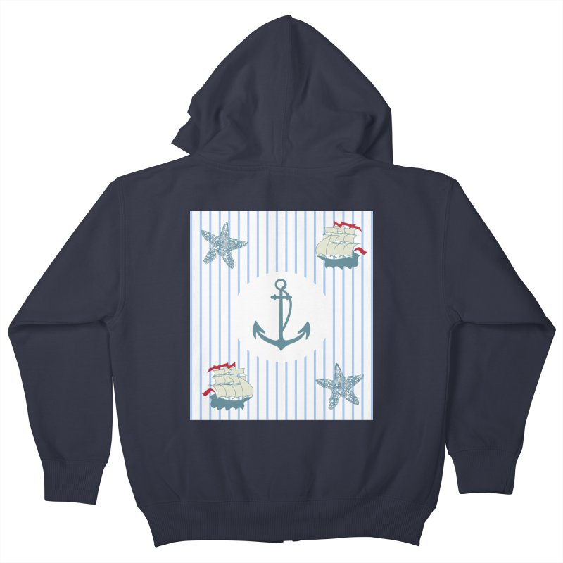 Nautical Kids Zip-Up Hoody by snapdragon64's Shop