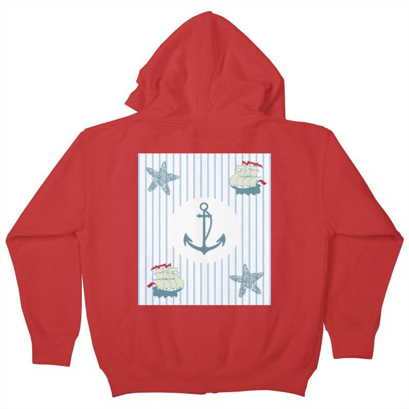 Nautical Kids Zip-Up Hoody by snapdragon64's Shop