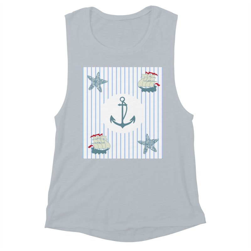 Nautical Women's Muscle Tank by snapdragon64's Shop
