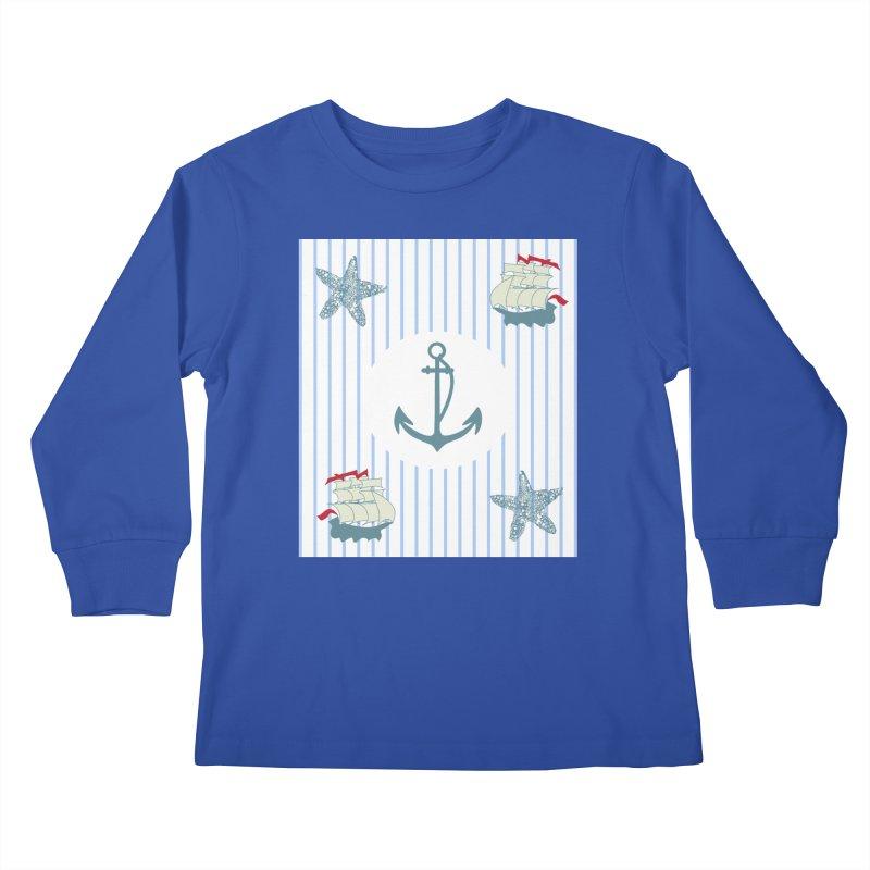 Nautical Kids Longsleeve T-Shirt by snapdragon64's Shop