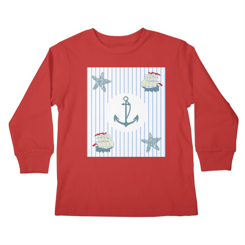 Nautical Kids Longsleeve T-Shirt by snapdragon64's Shop