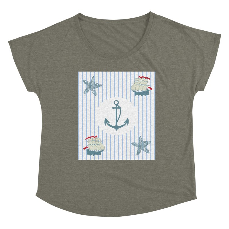 Nautical Women's Scoop Neck by snapdragon64's Shop