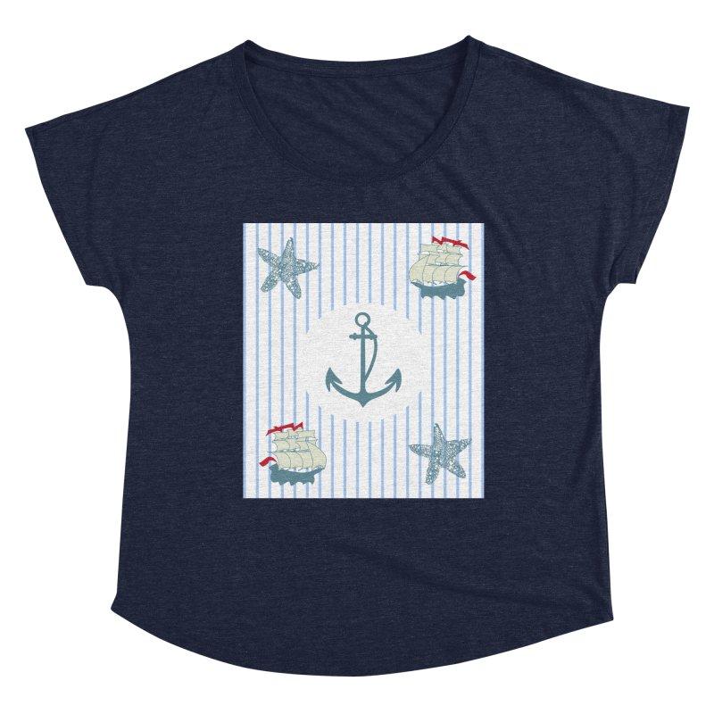 Nautical Women's Scoop Neck by snapdragon64's Shop